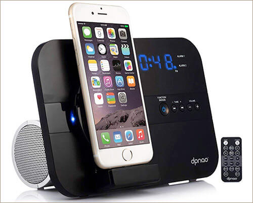 DPNAO iPhone 6s and 6s Plus Clock Radio Docking Station