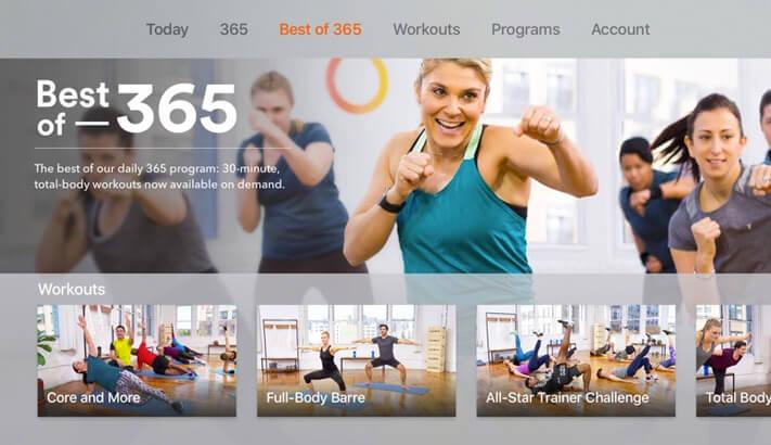 Daily Burn Trainer Workouts Apple TV App Screenshot
