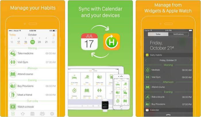 Daily Habits iPhone and iPad App Screenshot