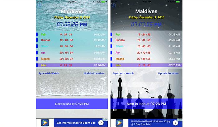 Daily Salat Azan iPhone and iPad App Screenshot