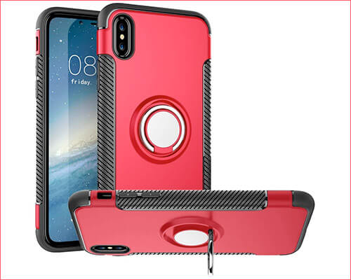 Dairnim Ring Case for iPhone Xs