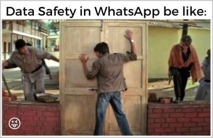 Data Safety in WhatsApp