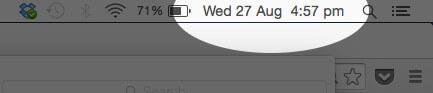 Date in Menu Bar in Mac OS X