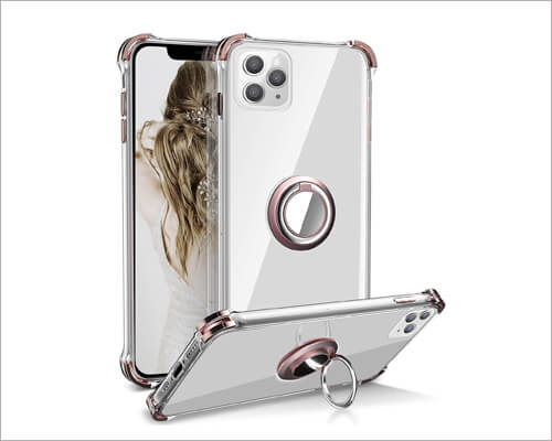 Daupin iPhone 11 Pro Ring Holder Magnetic Case