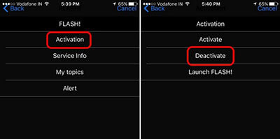 Deactivate Flash Messages on iPhone