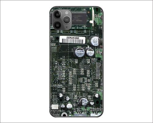 Decalrus Circuit Board Skin Sticker for iPhone 11 Pro Max