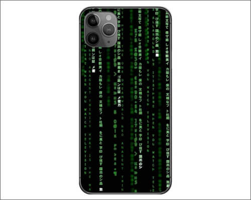 Decalrus Coding Themed Skin Cover Wrap for iPhone 11 Pro Max