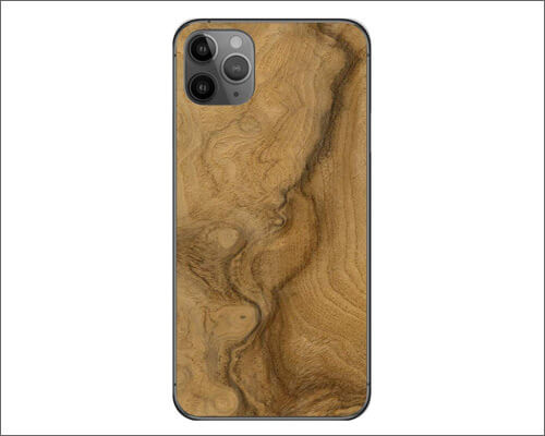 Decalrus Wood Burl Skin Skin and Wrap for iPhone 11 Pro Max