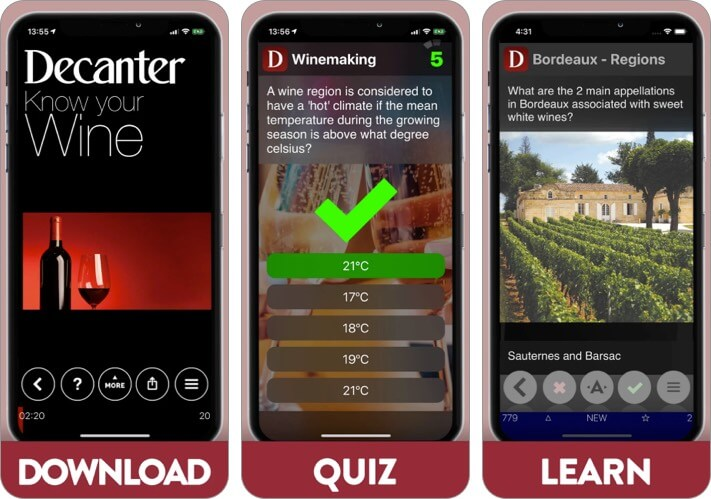 Decanter best wine apps for iPhone screenshot
