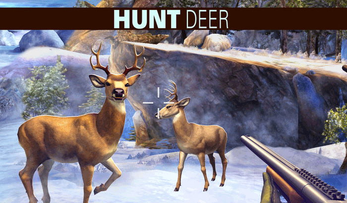 Deer Hunter First Person Shooter iPhone and iPad Game Screenshot