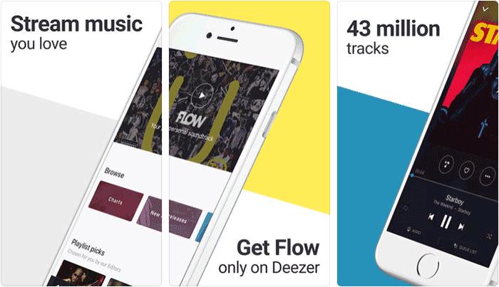 Deezer iPhone iPad Spotify Alternative App Screenshot