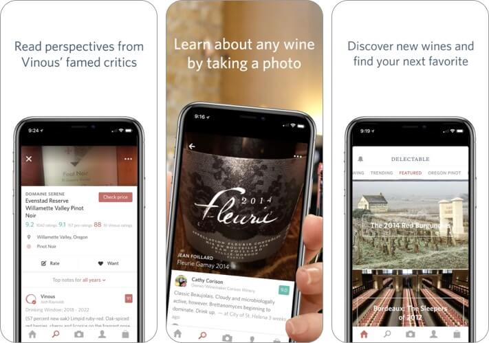 Delectable best wine app for iPhone screenshot