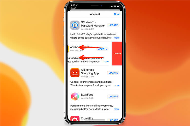 Delete Apps From App Store in iOS 13
