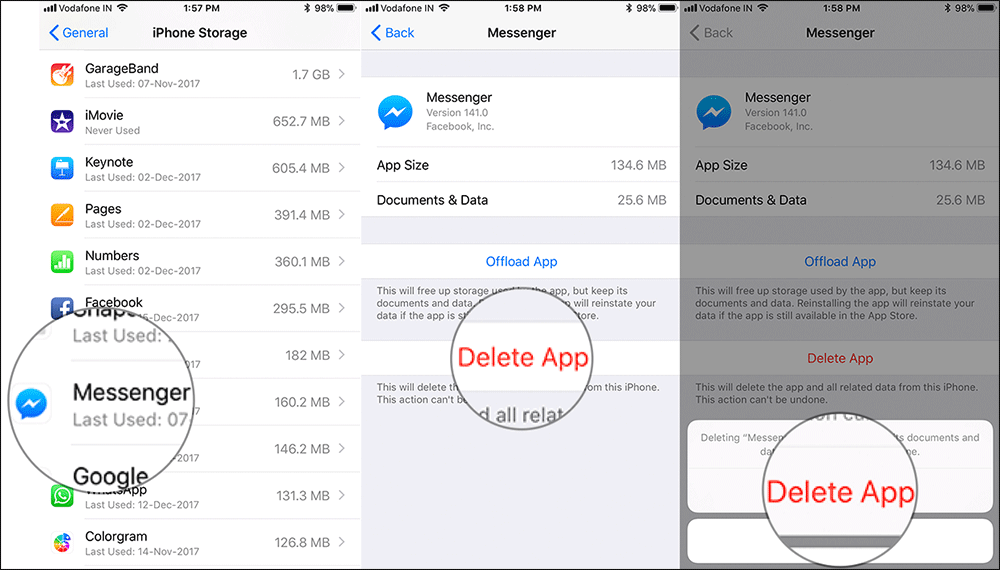 Delete Apps from iPhone or iPad