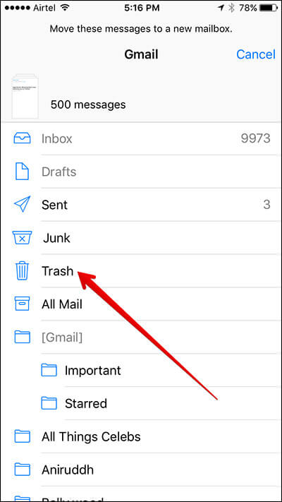 Delete Bulk Mail in iPhone Mail App