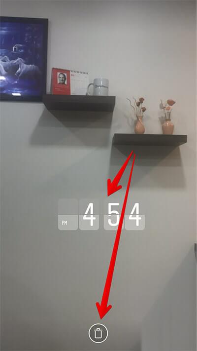 Delete GeoSticker in Instagram on iPhone