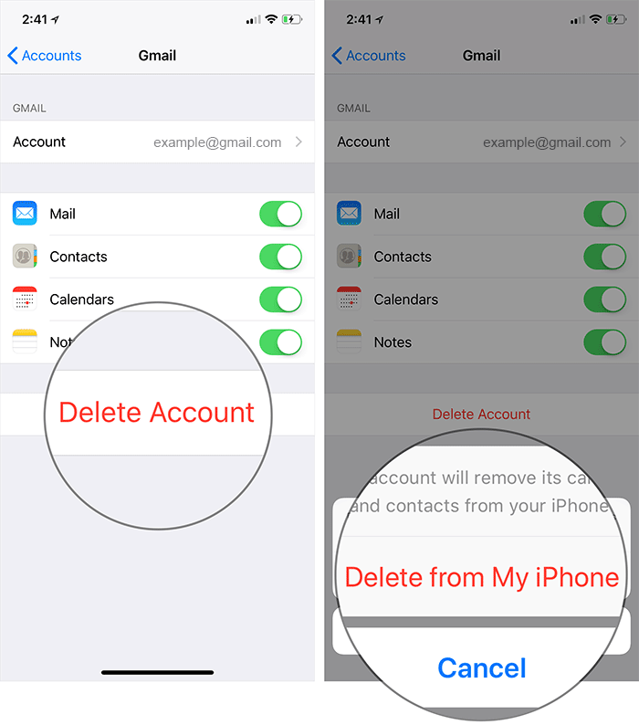 Delete Mail Account from iPhone or iPad