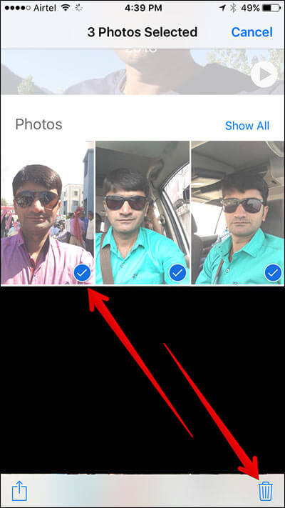 Delete Photos from Memories in iOS 10