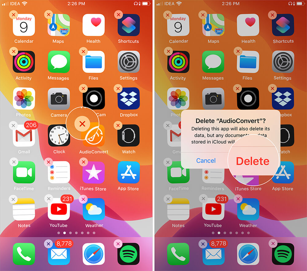 Delete Remove Unnecessary Apps on iPhone