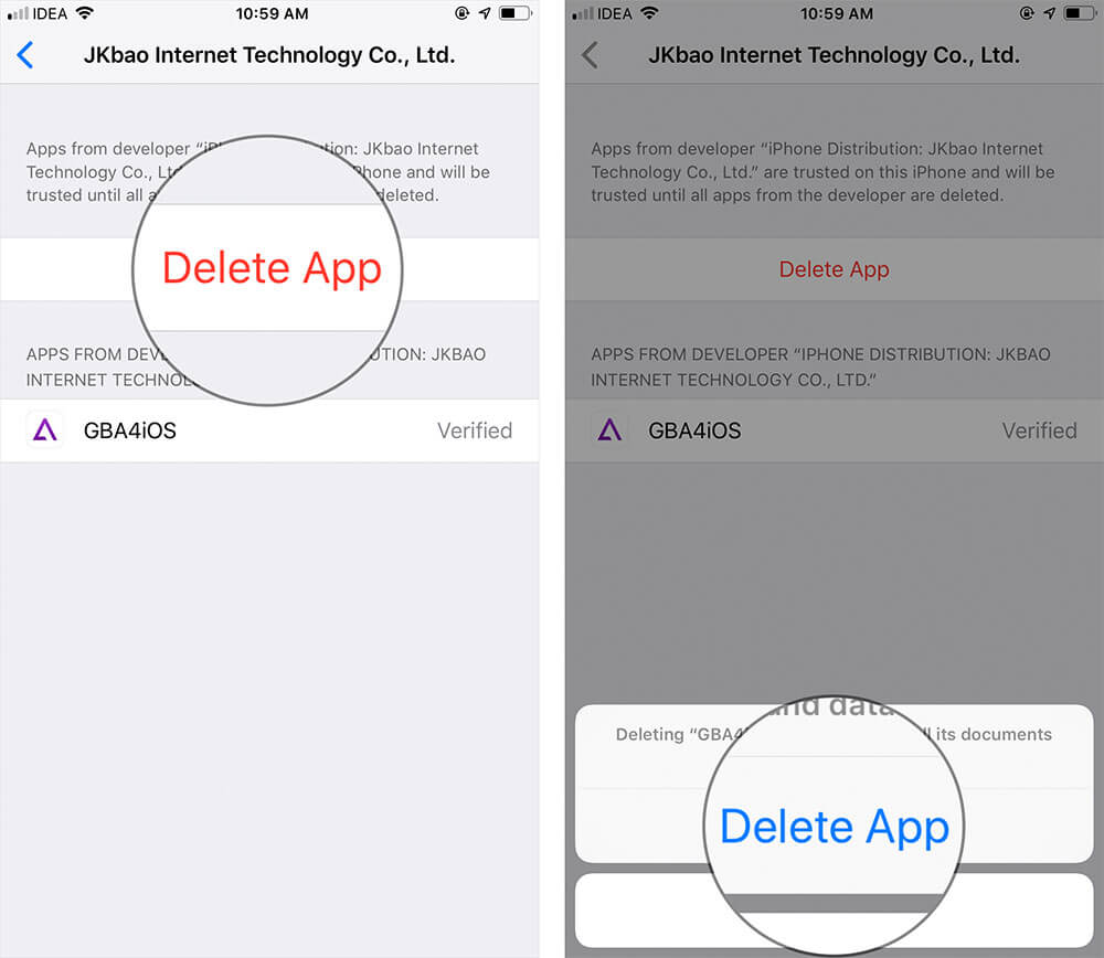 Delete Root Profile from iPhone or iPad