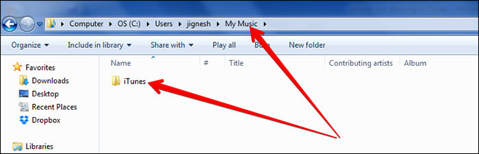 Delete iTunes Folder from Windows PC
