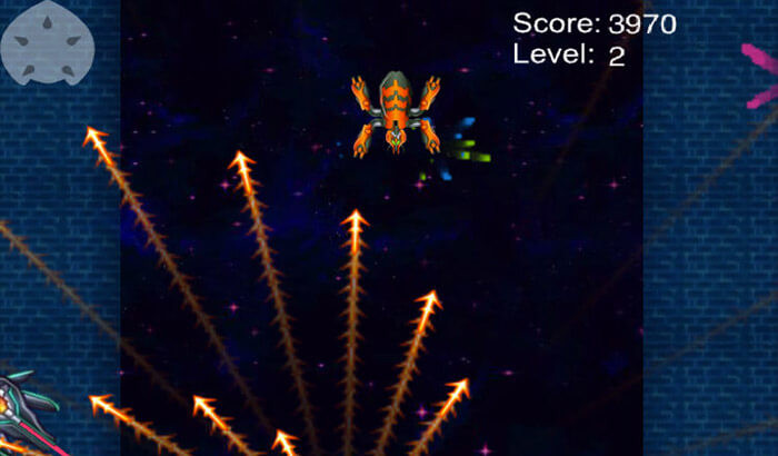 Demon Star Space Shooter iPhone and iPad Game Screenshot