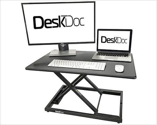 DeskDoc iMac, MacBook Pro, and Windows PC Standing Desk