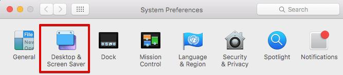 Desktop & Screen Saver Settings on Mac