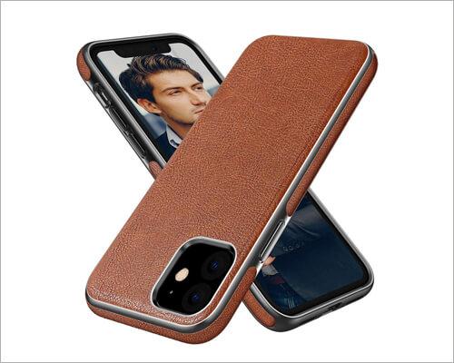 Diaclara Leather Handmade Executive Case for iPhone 11