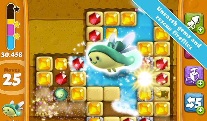 Diamond Digger Saga Puzzle iPhone and iPad Game Screenshot