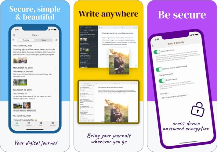 Diarly best journal app for iPhone and iPad