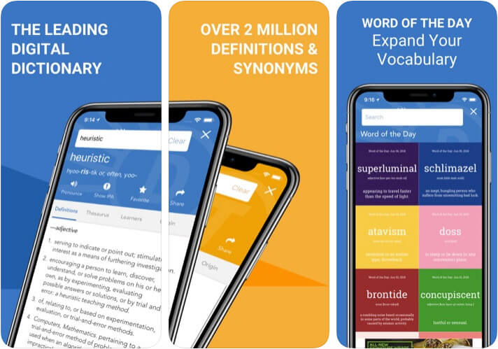 Dictionary.com Thesaurus iOS App Screenshot