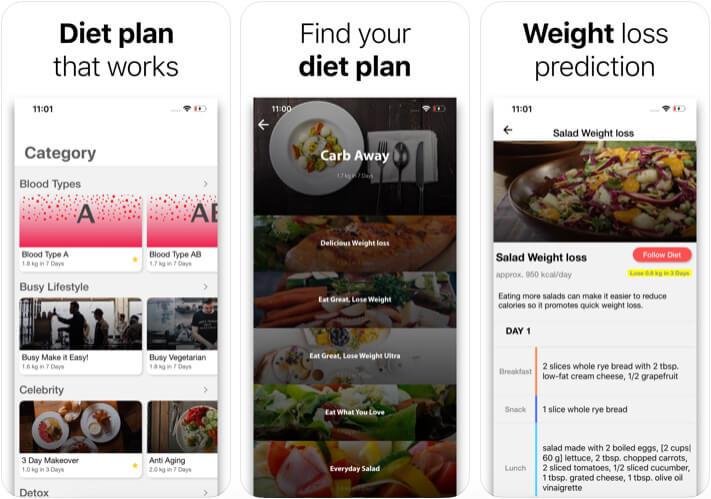 Diet Plan Weight Loss iPhone and iPad App Screenshot