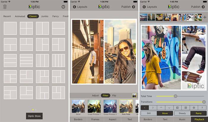 Diptic Collage Making iPhone and iPad App Screenshot
