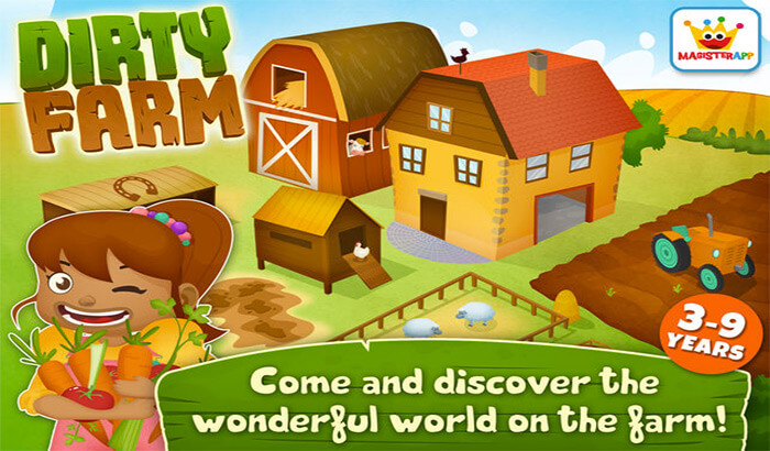 Dirty Farm PreSchool iPhone and iPad Game Screenshot