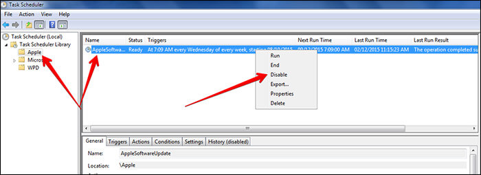 Disable Apple Software Updates on Windows