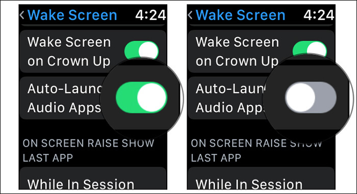 Disable Auto Playing Audio Apps in watchOS 4 on Apple Watch