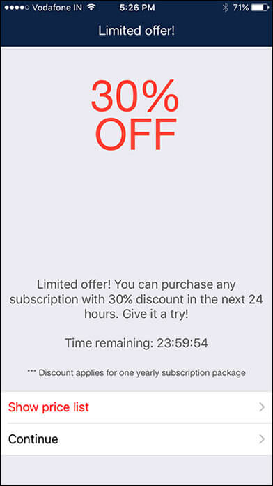 Discount on Billdu iPhone Invoice App
