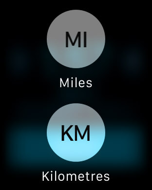 Distance Units on Apple Watch Workout App