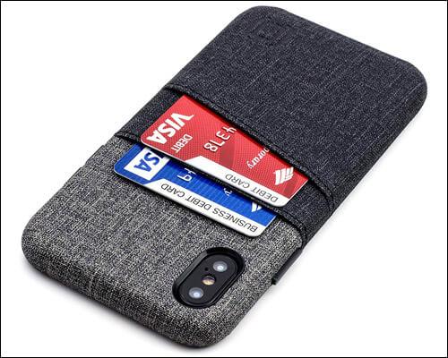 Dockem iPhone X, Xs Card Holder Leather Wallet Case