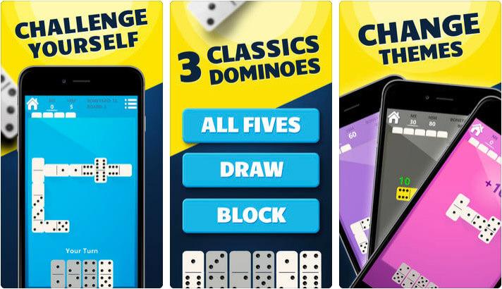 Dominos iPhone and iPad Board Game Screenshot