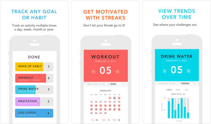 Done Simple Habit Tracker iPhone App Screenshot