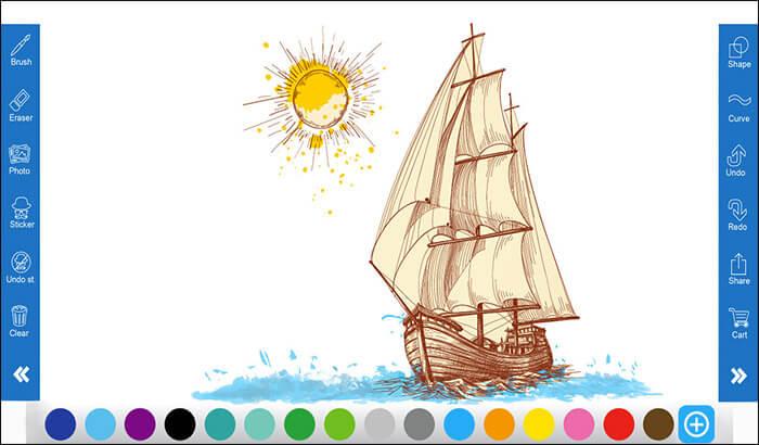 Doodle Art iPad Drawing App Screenshot