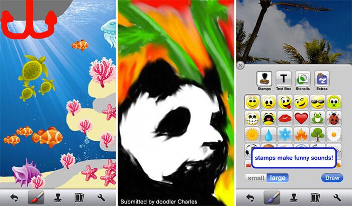 Doodle Buddy iPhone and iPad App Screenshot