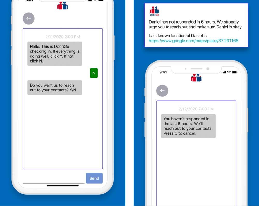DooriGo Virtual Checkin iPhone App