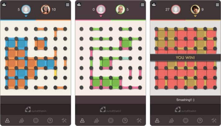 Dots and Boxes iPhone Game to Play with Friends