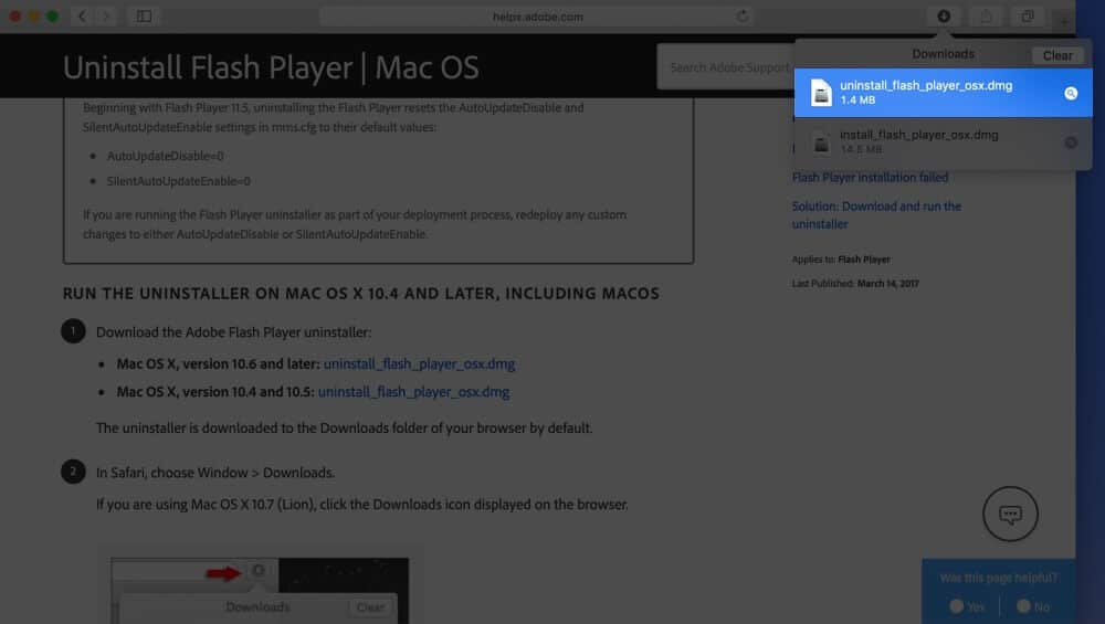 Double Click on Downloaded dmg File on Mac