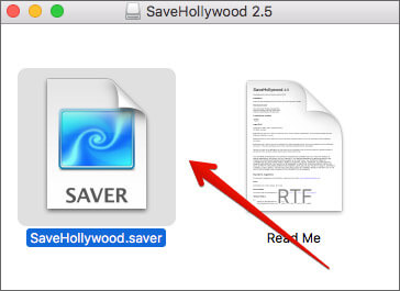 Double click SaveHollywood file on Mac