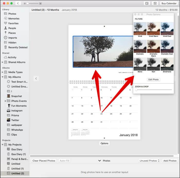 Double-click a photo to edit on Mac Photos App