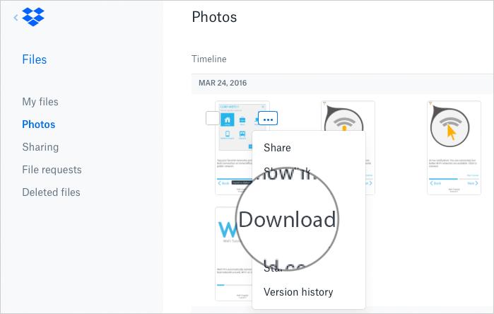 Download DropBox Photos to Mac or Windows PC